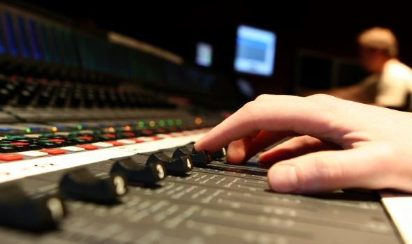 photo of audio engineer sound technician