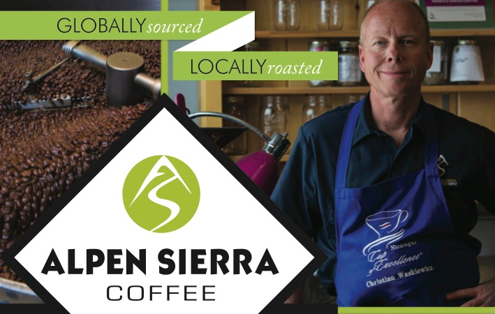 Alpen Sierra Coffee Print Ad Design