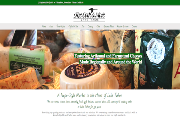 The Cork and More Tahoe Website Redesign & Migration