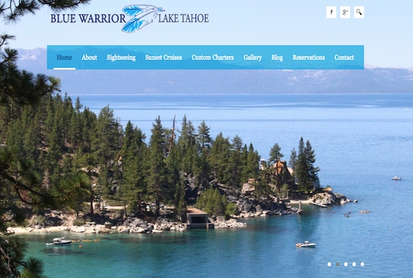 Blue Warrior Cruises Website Design