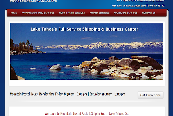 website-design-Mountain-Postal-Lake-Tahoe