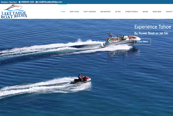 Tahoe Boat Rides Website Design
