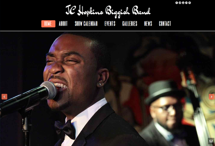 JC Hopkins Band Website Redesign & Migration