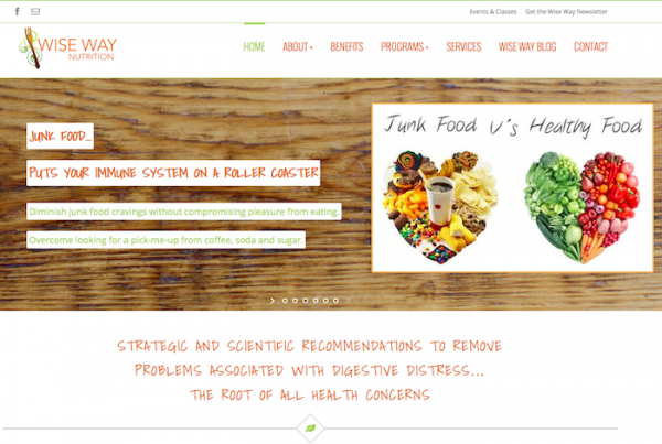 Wise Way Nutrition Website Design Tahoe