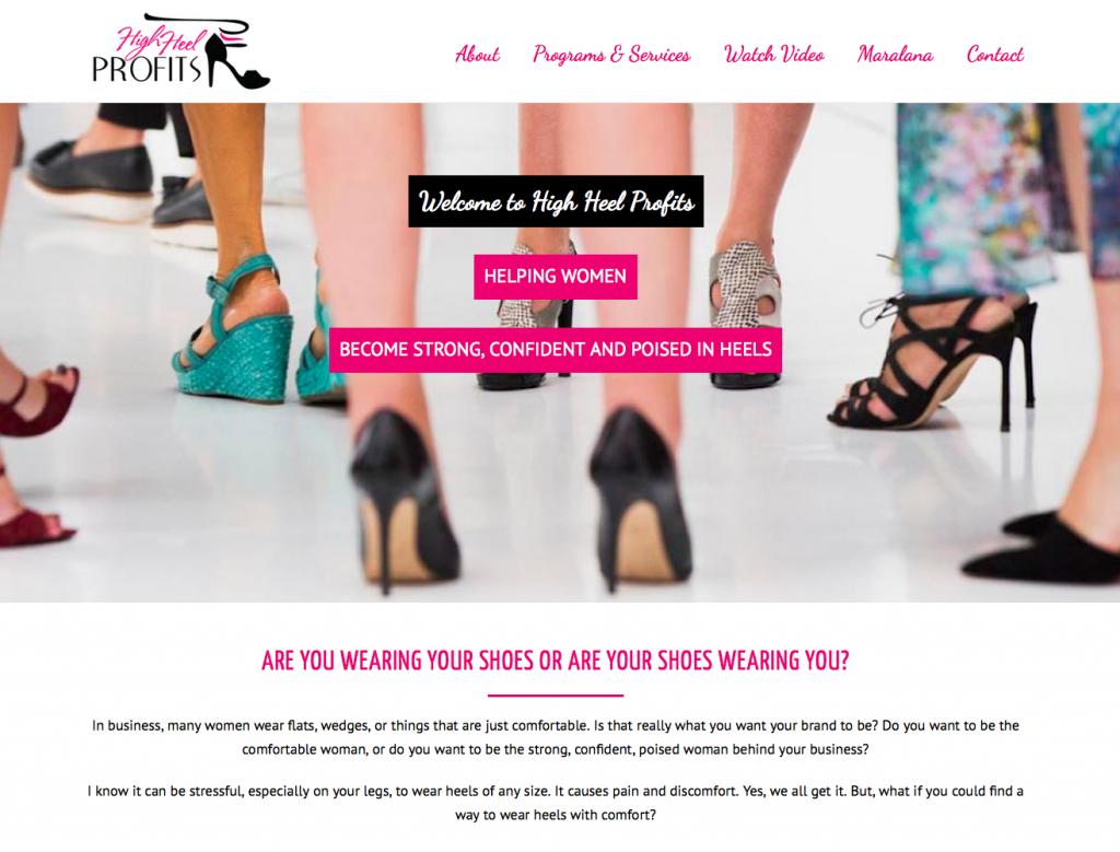 Single-Page Website Design | High Heel Profits | Tahoe