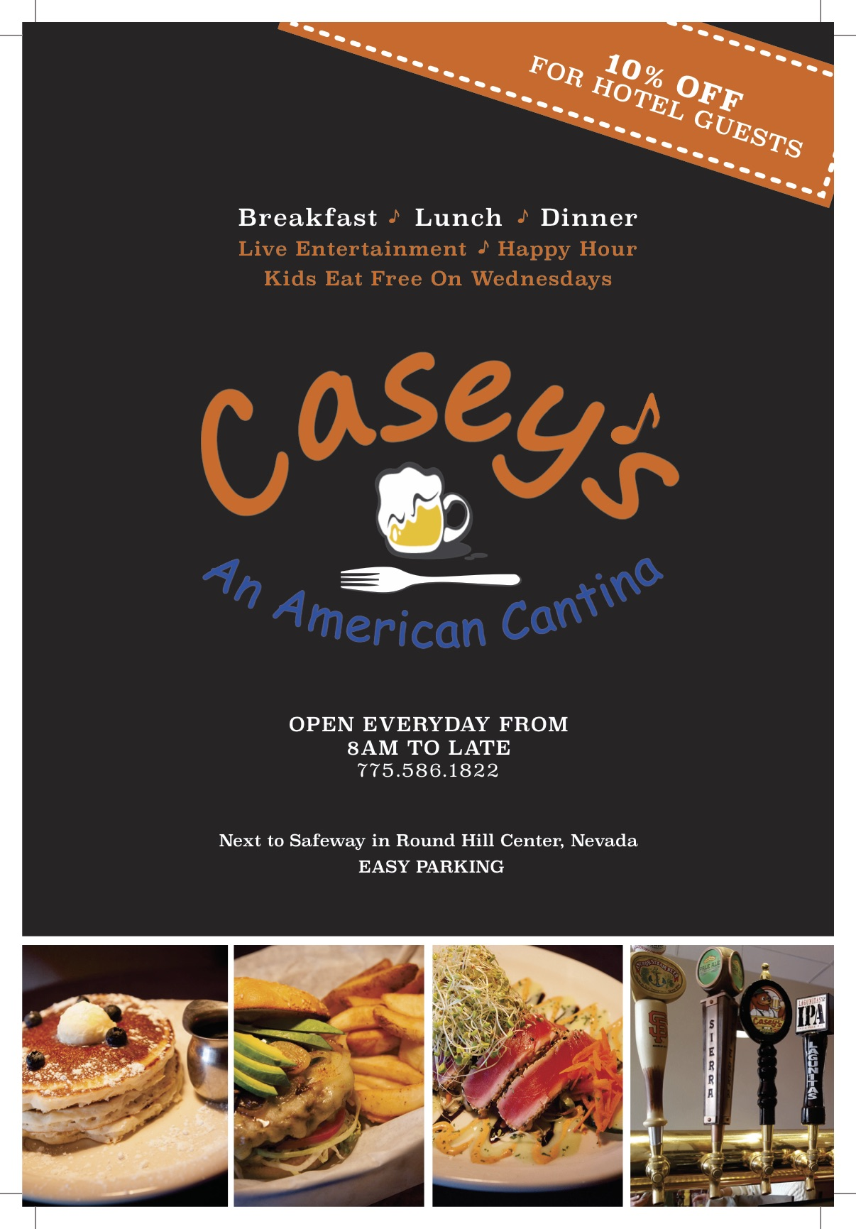 Casey S American Cantina Tahoe Inn Room Guest Magazine Ad Design Tahoe Production House