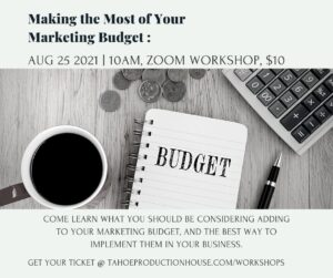 Making the Most of Your Marketing Budget @ Virtual Workshop, Zoom