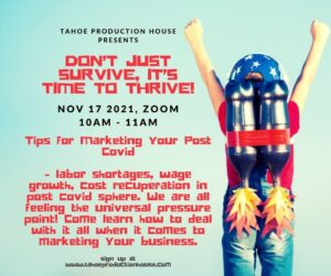 Don't just Survive, It's Time to Thrive! @ Virtual Workshop, Zoom