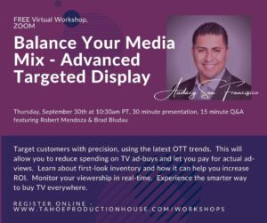 Balance Your Media Mix Virtual Workshop - Advanced Targeted Display @ Virtual Workshop, Zoom